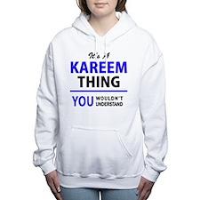 Cute Kareem Women's Hooded Sweatshirt