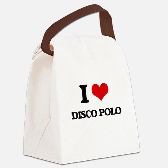 I Love DISCO POLO Canvas Lunch Bag