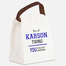 Cute Karson Canvas Lunch Bag