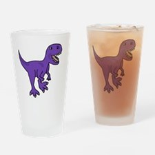 Purple T-Rex Dinosaur Drinking Glass