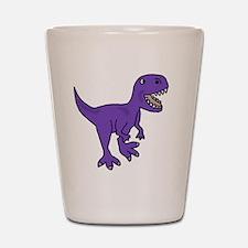 Purple T-Rex Dinosaur Shot Glass