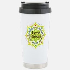 Cute Lymphoma lime green ribbon Travel Mug