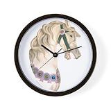 Carousel horse Wall Clocks