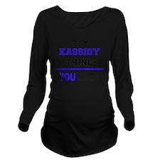 Cute Kassidy Long Sleeve Maternity T-Shirt
