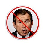 No Bush / Anti Bush Round Ornament