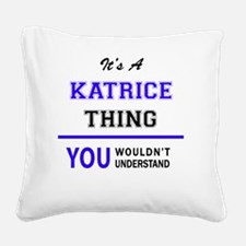 Katrice Square Canvas Pillow