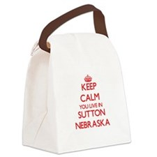 Keep calm you live in Sutton Nebr Canvas Lunch Bag