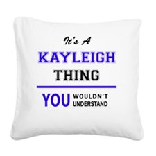 Cute Kayleigh Square Canvas Pillow