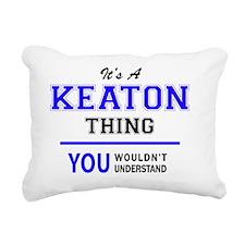 Cute Keaton Rectangular Canvas Pillow