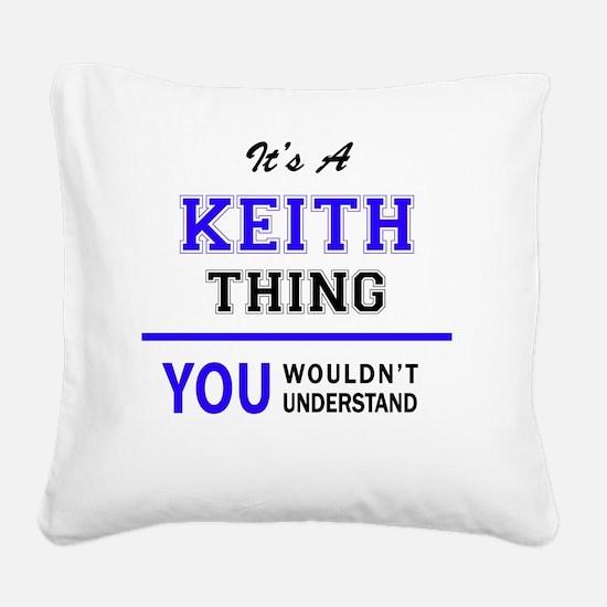 Unique Keith Square Canvas Pillow