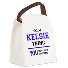 Funny Kelsie's Canvas Lunch Bag