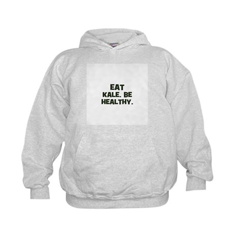 eat kale. be healthy. Kids Hoodie