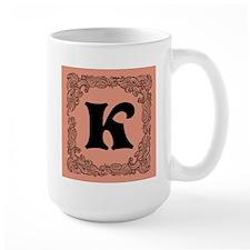 Pink Personalized Monogram Initial Mugs