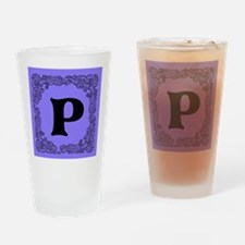 Lavender Personalized Initial Monogram Drinking Gl