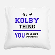Cute Kolby Square Canvas Pillow