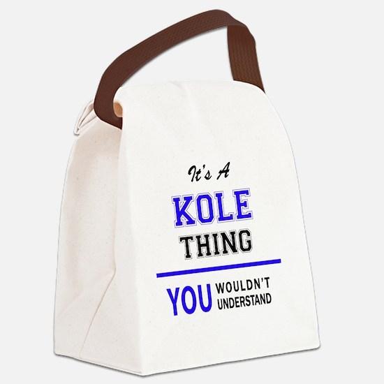 Cute Kole Canvas Lunch Bag