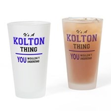Cute Kolton Drinking Glass