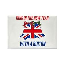 British New Years Rectangle Magnet