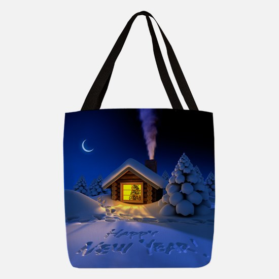 Happy New Year Polyester Tote Bag