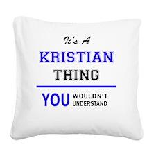 Cute Kristian Square Canvas Pillow