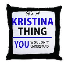 Cute Kristina Throw Pillow