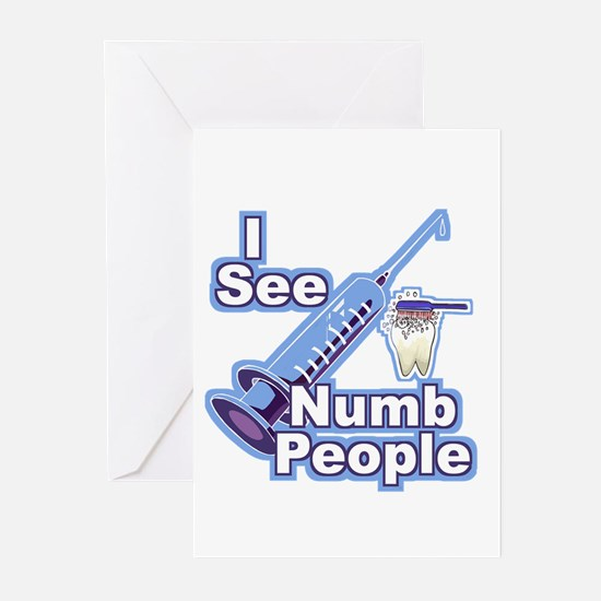I See NUMB People! Novocaine Greeting Cards (Packa