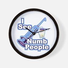 I See NUMB People! Novocaine Wall Clock