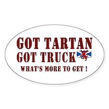 got your red tartan trucker Decal