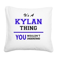 Cute Kylan Square Canvas Pillow