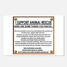 """I support animal rescue""Postcards (Package of 8)"