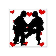 Sumo Wrestling Hearts Sticker