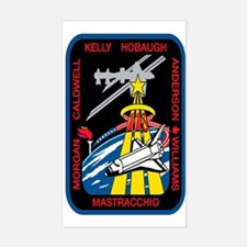 STS 118 Endeavour Original Crew Sticker (Rectangul