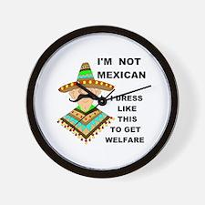 MEXICAN WELFARE Wall Clock