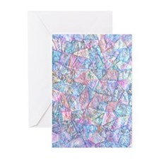 Crazy Quilt (lt.) Greeting Cards (pk Of 20)