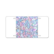 Crazy Quilt (Lt.) Aluminum License Plate