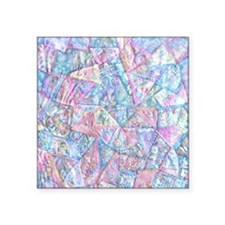 "Crazy Quilt (Lt.) Square Sticker 3"" x 3"""