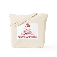 Keep calm you live in Hampton New Hampshi Tote Bag