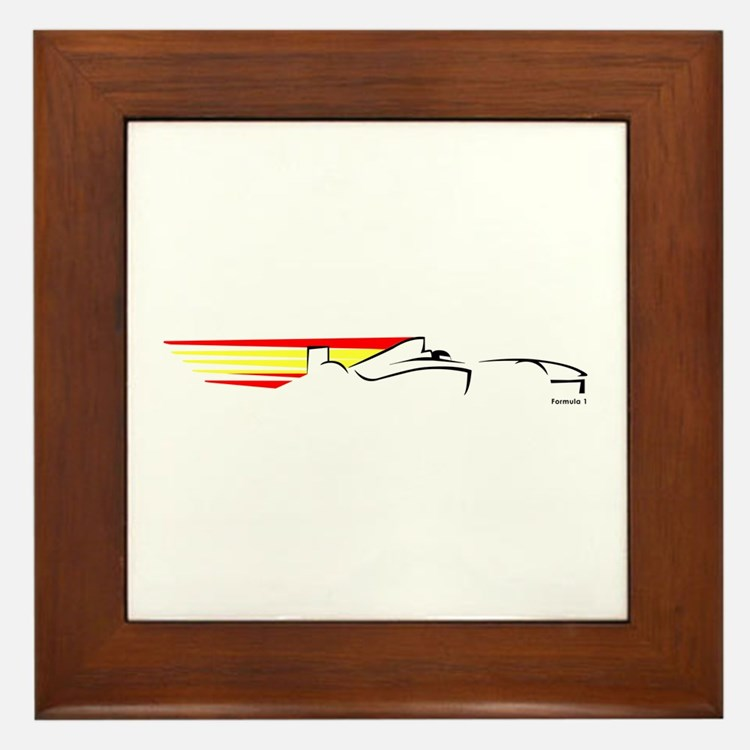 Formula 1 Spain Framed Tile