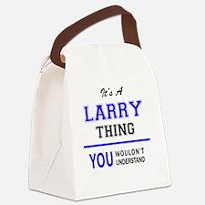 Cute Larry Canvas Lunch Bag