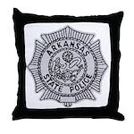 Arkansas State Police Throw Pillow