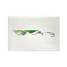 Formula 1 Brazil Rectangle Magnet (10 pack)