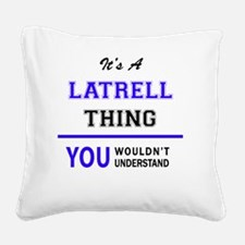 Cute Latrell Square Canvas Pillow