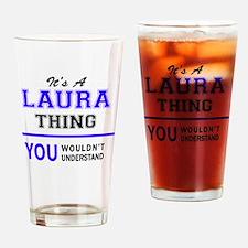 Cute Laura Drinking Glass
