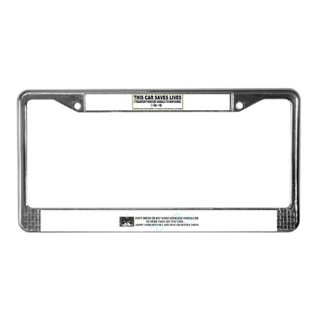 """Transport and rescue"" License Plate Frame"