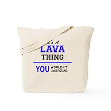 Unique Lava Tote Bag