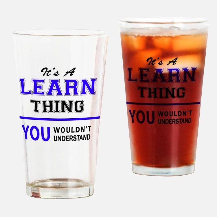 Cute Learn Drinking Glass