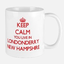 Keep calm you live in Londonderry New Hampshi Mugs