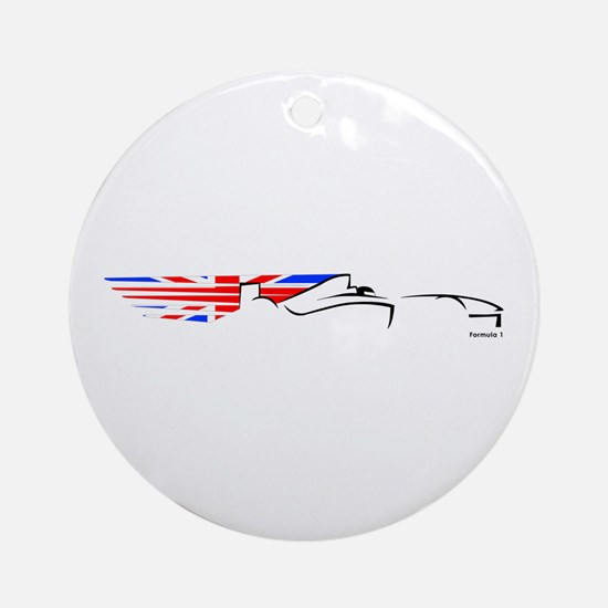 Formula 1 UK Ornament (Round)