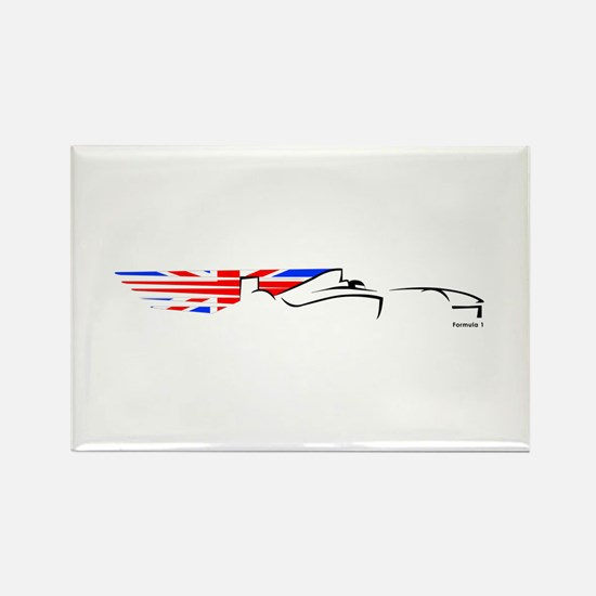 Formula 1 UK Rectangle Magnet
