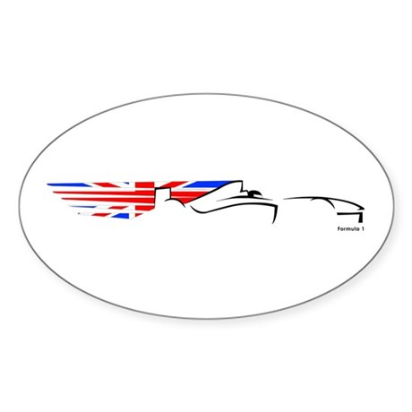 Formula 1 UK Oval Sticker